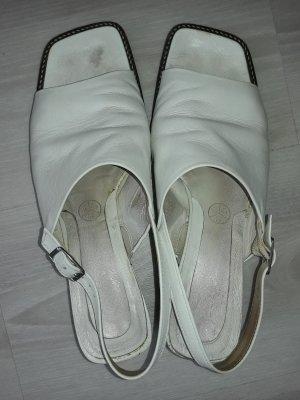 Gabor: Sandalen weiß Größe 6 1/2 mit verstellbaren Riehmen