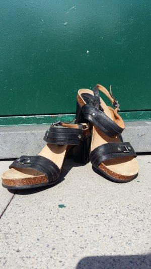 Gabor Sandalette Gr 37 mit leichtem Fußbett Leder Kork