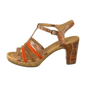 Gabor High-Heeled Sandals multicolored leather
