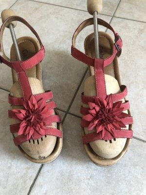 Gabor Sandalette rot, Gr. 7, wenig getragen, Leder