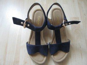 Gabor Wedge Sandals dark blue