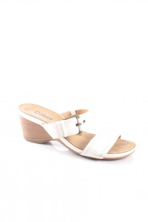 Gabor High-Heeled Sandals oatmeal classic style