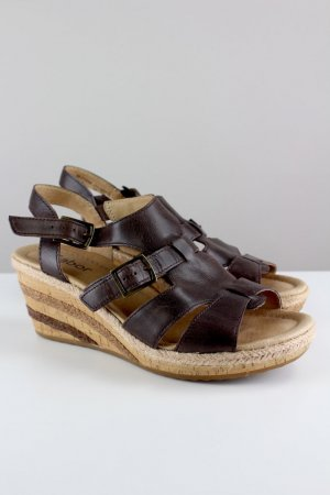 Gabor Wedge Sandals brown-light brown