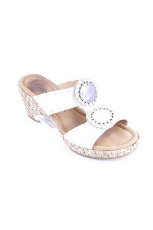 Gabor Sandaletten weiß-flieder extravaganter Stil