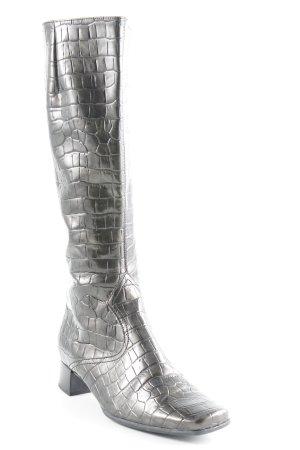 Gabor Schaftstiefel schwarz-grüngrau extravaganter Stil
