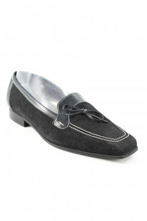Gabor Slip-on Shoes black-oatmeal casual look