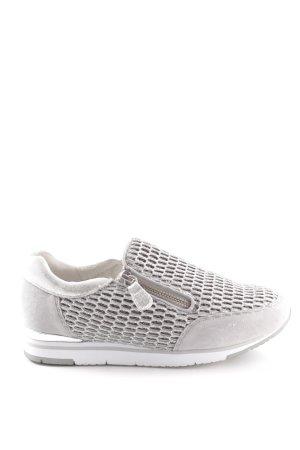 Gabor Schlüpfsneaker weiß-hellgrau sportlicher Stil