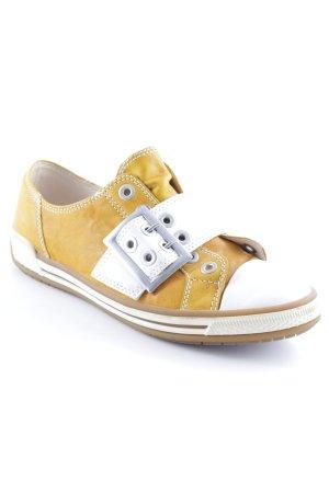 Gabor Zapatillas deslizantes amarillo oscuro-blanco look casual