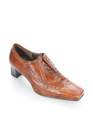 Gabor Schnür-Pumps cognac Casual-Look