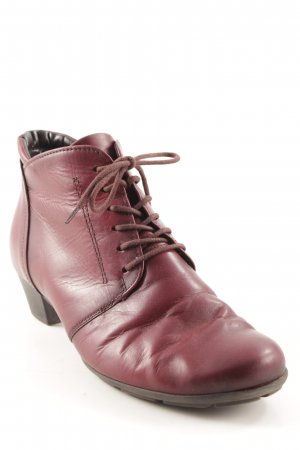 Gabor Lace-up Booties dark red-black casual look