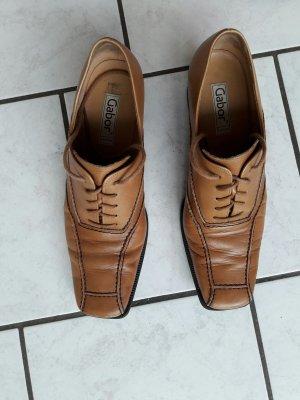 Gabor Zapatos brogue marrón claro Cuero