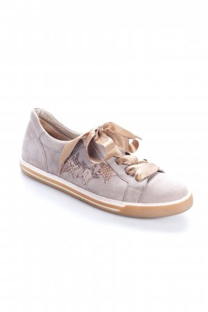Gabor Schnürschuhe beige-graubraun Animalmuster Casual-Look