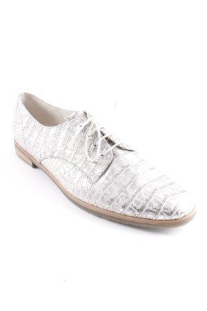 Gabor Schnürschuhe silberfarben-weiß Animalmuster extravaganter Stil