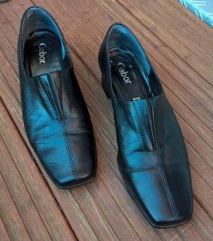 Gabor - schöne schwarze Leder Schuhe - Gr. 38 1/2 bzw. 5 1/2