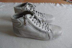 Gabor Schuhe Gr. 40 Grau Leder Top
