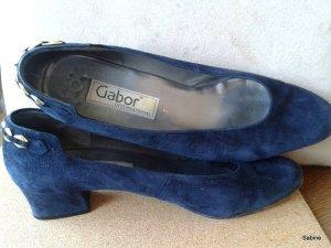 Gabor Schuhe Gr. 41 Dunkeblau Wildleder