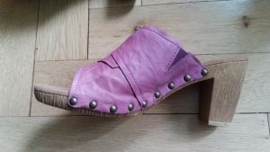 Gabor Heel Pantolettes sand brown-pink leather