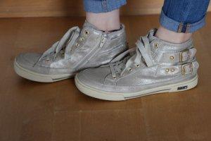 Gabor Schuhe / Sneaker Gr. 39 silber