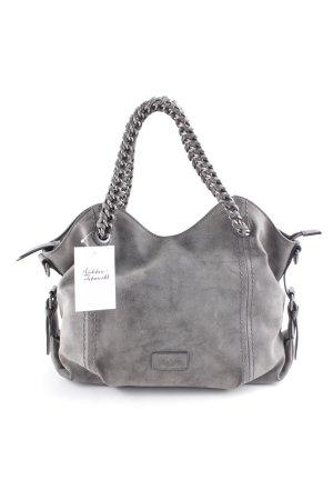 Gabor Schultertasche graubraun-silberfarben klassischer Stil