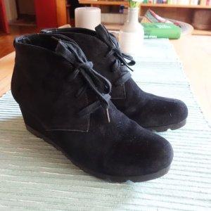 Gabor Shoes Comfort 72.755.47 Damen Stiefelelette, Schnürstiefelette, Keil, Rauhleder, nur 1 x getragen neuwertig, Gr. 39 (UK 6)
