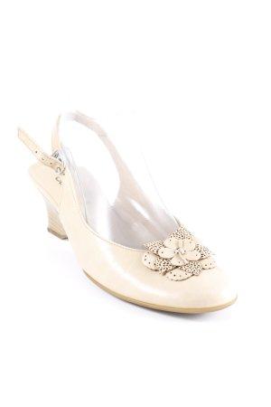 Gabor Escarpin à bride arrière beige style romantique