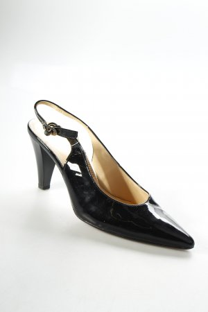 Gabor Slingback-Pumps schwarz Lack-Optik