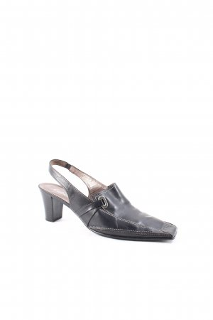 Gabor Slingback-Pumps schwarz Retro-Look