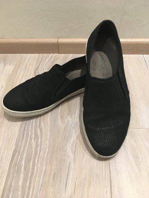 Gabor Sneaker Slipper Turnschuhe Ballerinas schwarz Leder Gr. 37