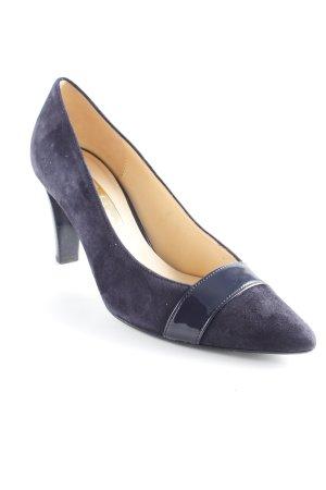 Gabor Spitz-Pumps dunkelblau Elegant