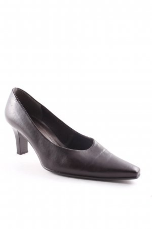 Gabor Spitz-Pumps dunkelbraun Retro-Look