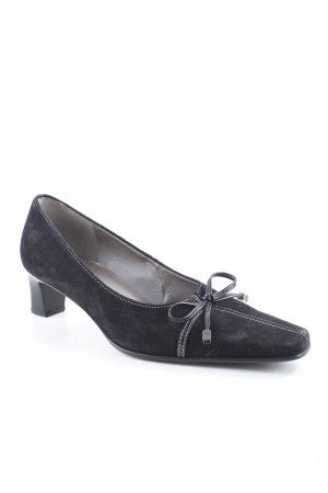 Gabor Spitz-Pumps schwarz-dunkelgrau Business-Look