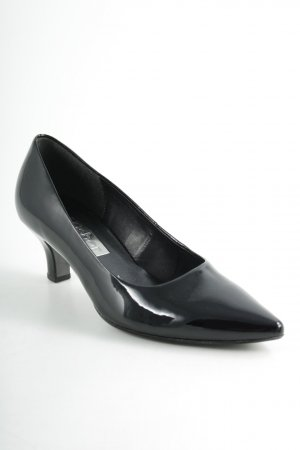 Gabor Spitz-Pumps schwarz Lack-Optik