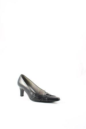 Gabor Spitz-Pumps schwarz-silberfarben Elegant