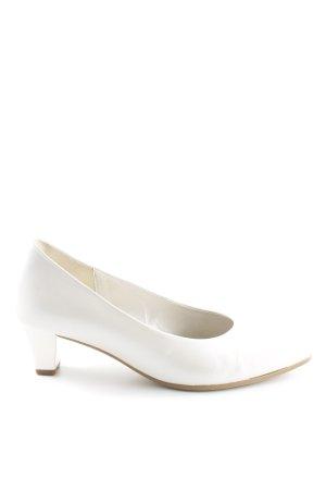 Gabor Spitz-Pumps weiß Elegant