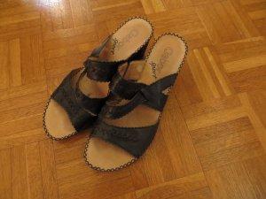 Gabor Sport Heel Pantolettes black-light brown leather