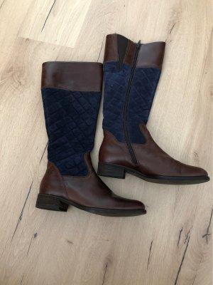 Gabor Botas estilo militar marrón-azul oscuro