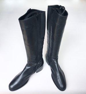 Gabor Botas estilo militar negro Cuero