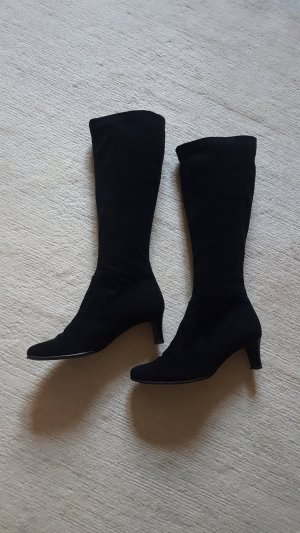 Gabor Stiefel aus schwarzem Wildleder Größe 4,5