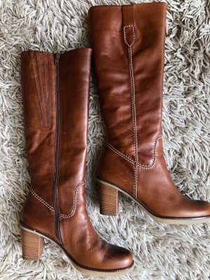 Gabor Heel Boots cognac-coloured