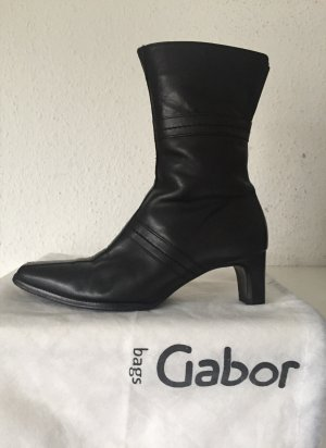 Gabor Stiefel Gr. 4 (37) Schwarz schwarze Lederstiefel echt Leder Stiefeletten