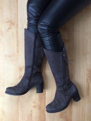 Gabor Stiefel grau braun mit Reißverschluss Größe 38