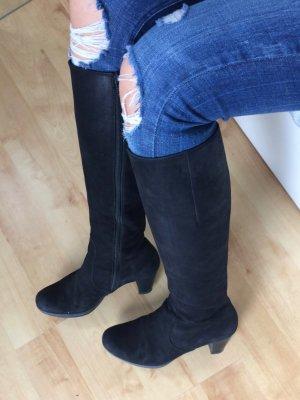 Gabor Stiefel schwarz monochrome aus Nubukleder