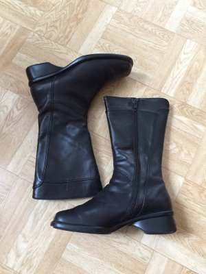 Gabor Stiefel Vintage Leder Schwarz Gr. 3 * 36 w. Neu