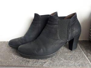 Gabor Stiefeletten Ankle Booties Chelsea Stiefel Gr.40 schwarz Leder