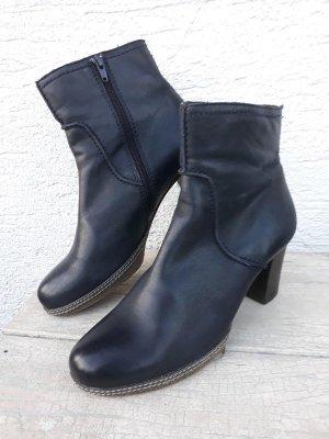 save off 0d07a e2b9b Gabor Stiefeletten echtes Leder Echtleder dunkelblau nachtblau midnight  blue ankle boots Absatz Stiefel Schuhe