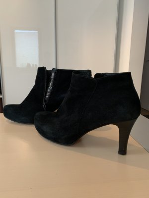 Gabor Peep Toe Booties black suede