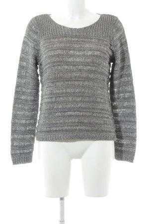 Gabor Strickpullover grau-wollweiß Casual-Look