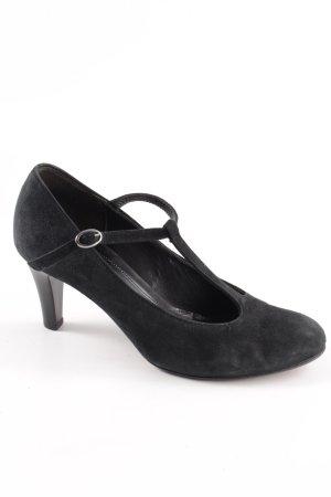 Gabor Zapatos de tacón con barra en T negro elegante