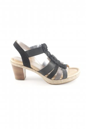 Gabor T-Strap Sandals black casual look