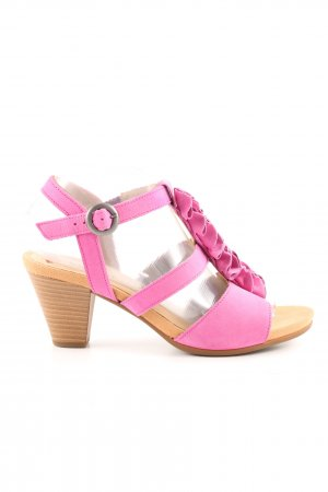 Gabor T-Strap Sandals pink casual look